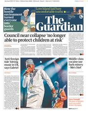 The Guardian (UK) Newspaper Front Page for 1 August 2018