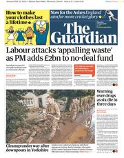 The Guardian (UK) Newspaper Front Page for 1 August 2019