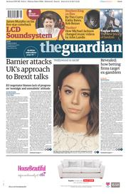 The Guardian (UK) Newspaper Front Page for 1 September 2017