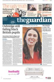The Guardian (UK) Newspaper Front Page for 20 October 2017