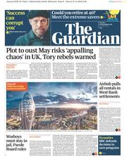 The Guardian (UK) Newspaper Front Page for 20 November 2018