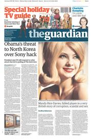 The Guardian (UK) Newspaper Front Page for 20 December 2014