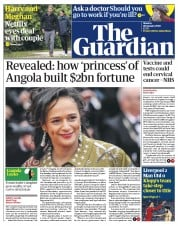 The Guardian (UK) Newspaper Front Page for 20 January 2020