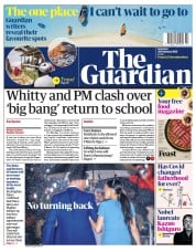 The Guardian front page for 20 February 2021