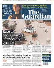 The Guardian (UK) Newspaper Front Page for 20 March 2019