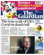 The Guardian front page for 20 June 2020
