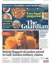 The Guardian (UK) Newspaper Front Page for 20 July 2019