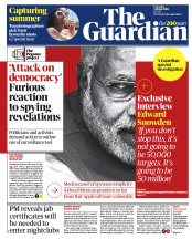 The Guardian () Newspaper Front Page for 20 July 2021