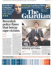 The Guardian (UK) Newspaper Front Page for 20 September 2019