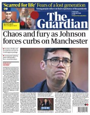 The Guardian front page for 21 October 2020