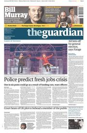 The Guardian (UK) Newspaper Front Page for 21 November 2014
