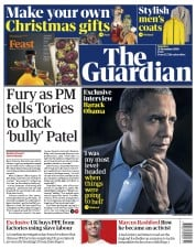 The Guardian front page for 21 November 2020