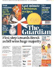 The Guardian (UK) Newspaper Front Page for 21 December 2019