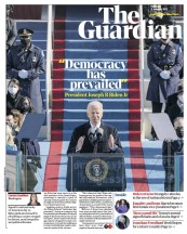 The Guardian front page for 21 January 2021