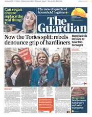 The Guardian (UK) Newspaper Front Page for 21 February 2019