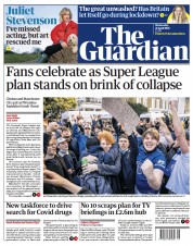 The Guardian front page for 21 April 2021