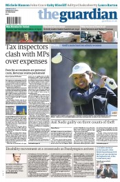 The Guardian () Newspaper Front Page for 21 August 2012