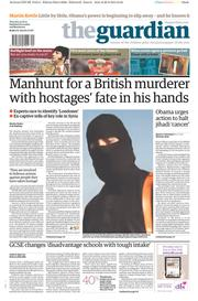The Guardian (UK) Newspaper Front Page for 21 August 2014