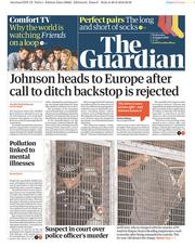 The Guardian (UK) Newspaper Front Page for 21 August 2019