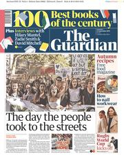 The Guardian (UK) Newspaper Front Page for 21 September 2019
