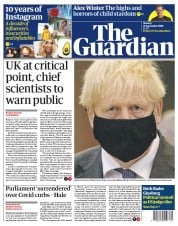 The Guardian front page for 21 September 2020