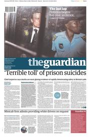 The Guardian (UK) Newspaper Front Page for 22 October 2014