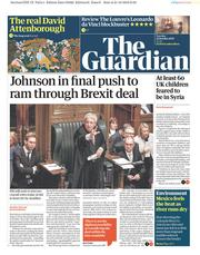 The Guardian (UK) Newspaper Front Page for 22 October 2019
