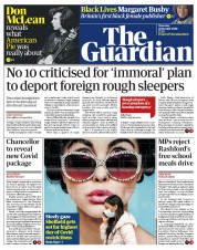 The Guardian front page for 22 October 2020
