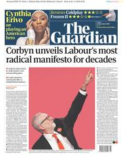 The Guardian (UK) Newspaper Front Page for 22 November 2019