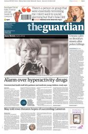 The Guardian (UK) Newspaper Front Page for 22 December 2014