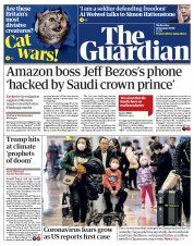 The Guardian (UK) Newspaper Front Page for 22 January 2020