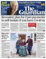 The Guardian front page for 22 January 2021