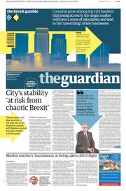 The Guardian (UK) Newspaper Front Page for 22 February 2017