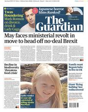The Guardian (UK) Newspaper Front Page for 22 February 2019