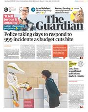 The Guardian (UK) Newspaper Front Page for 22 March 2018