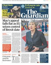 The Guardian () Newspaper Front Page for 22 March 2019