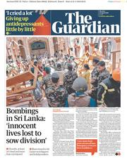 The Guardian (UK) Newspaper Front Page for 22 April 2019
