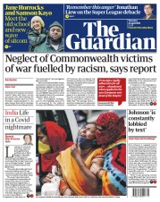 The Guardian front page for 22 April 2021