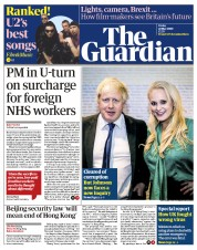 The Guardian front page for 22 May 2020