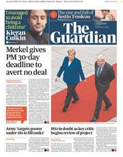 The Guardian (UK) Newspaper Front Page for 22 August 2019