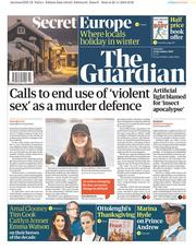 The Guardian (UK) Newspaper Front Page for 23 November 2019