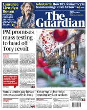The Guardian front page for 23 November 2020
