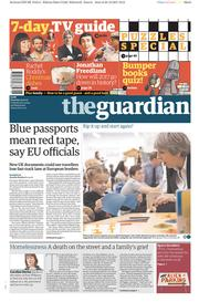 The Guardian (UK) Newspaper Front Page for 23 December 2017