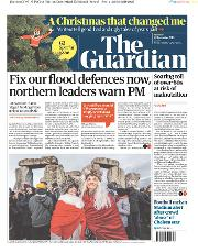 The Guardian (UK) Newspaper Front Page for 23 December 2019