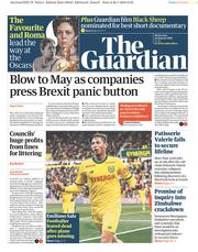 The Guardian (UK) Newspaper Front Page for 23 January 2019