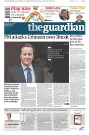 The Guardian (UK) Newspaper Front Page for 23 February 2016