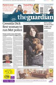 The Guardian (UK) Newspaper Front Page for 23 February 2017