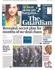The Guardian (UK) Newspaper Front Page for 23 March 2019