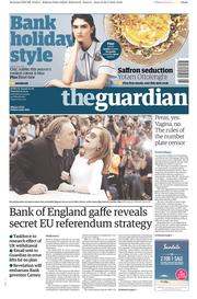 The Guardian (UK) Newspaper Front Page for 23 May 2015