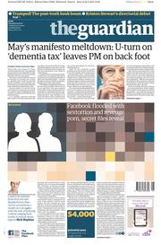 The Guardian () Newspaper Front Page for 23 May 2017